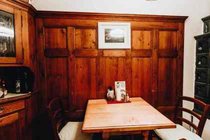 Table at the Bärenwirt Salzburg