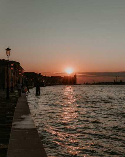Sonnenuntergang rote Sonne Giudecca