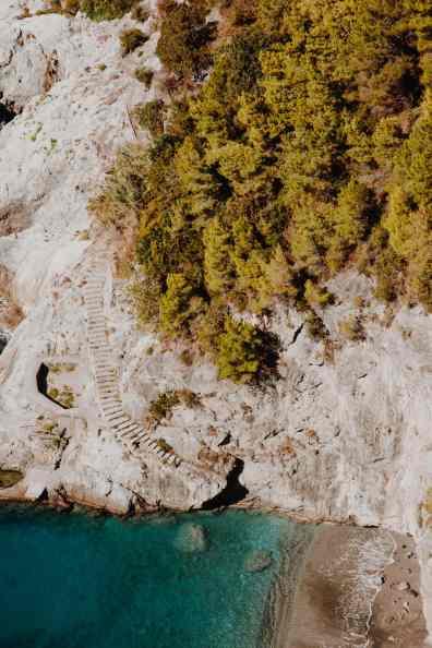 Amalfitana Bucht mit Strand