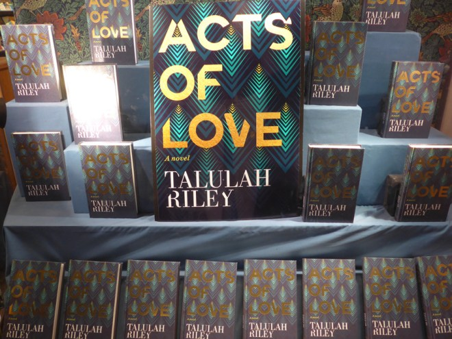 Acts of Love by Talulah Riley window display at Daunt Books