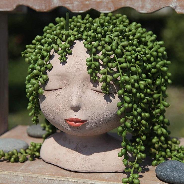 Whimsical Female Planter