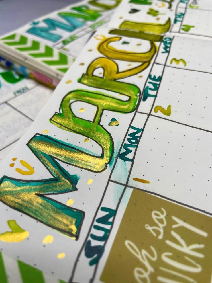 finetec metallic watercolor bullet journal