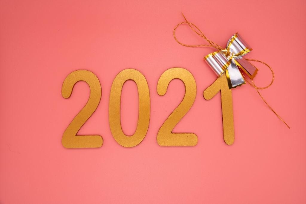 Happy new year 2021 stock photo