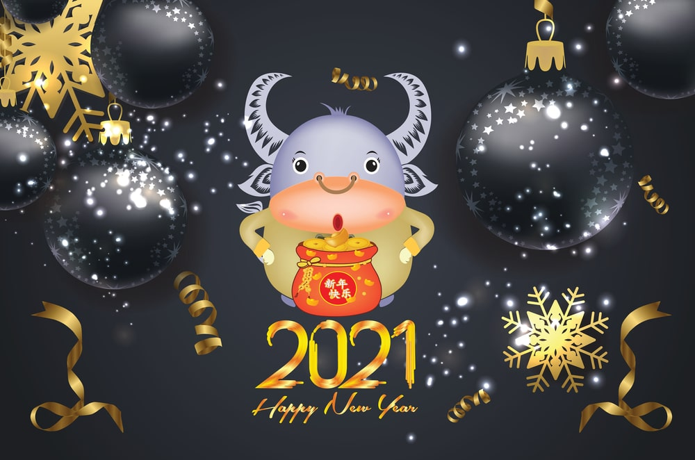 year of cow 2021 wallpaper