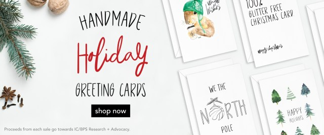 spoonie holiday greeting cards