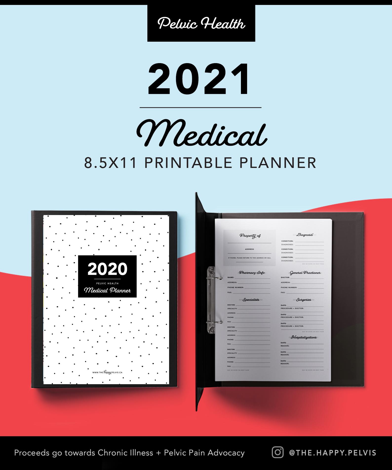 2021 Printable Medical Planner