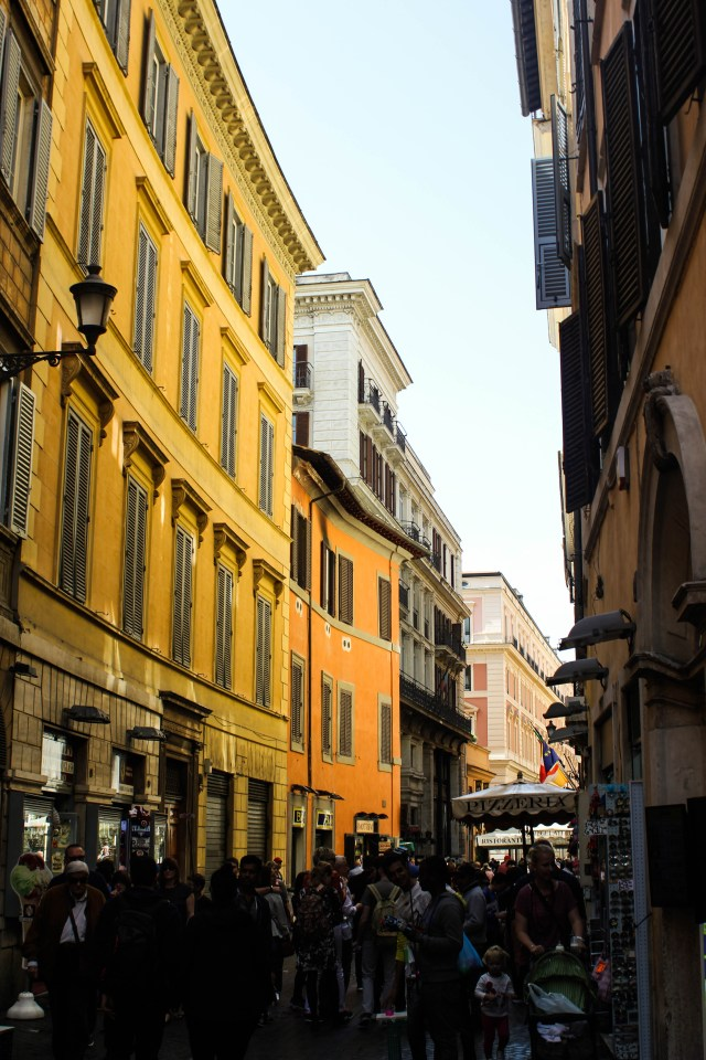 Italian streets in Rome