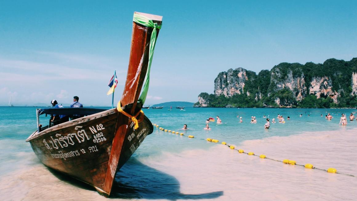 longtail boat in krabi thailand