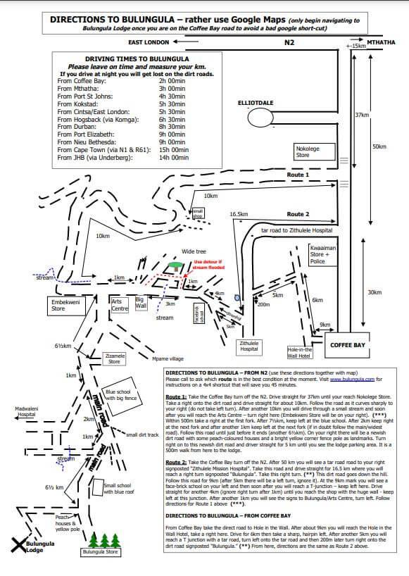 Bulungula map