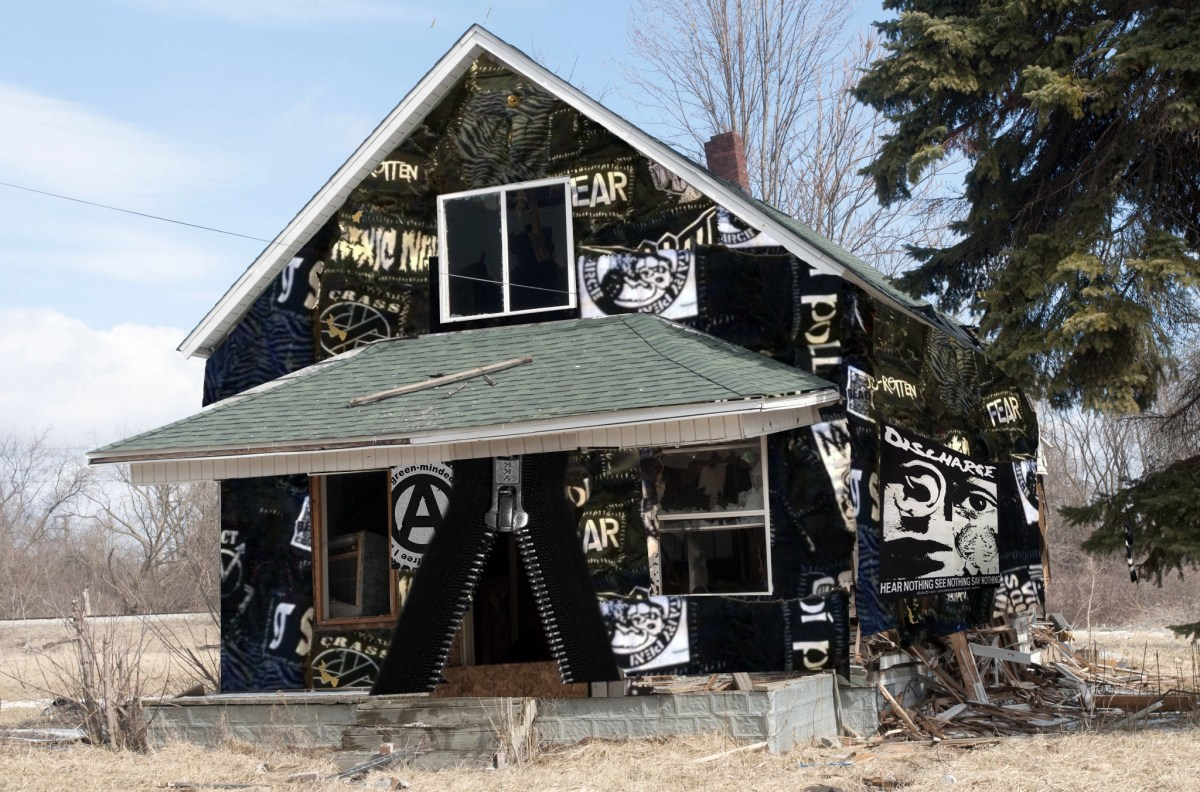Crust Punk House Made Entirely Out of Patches