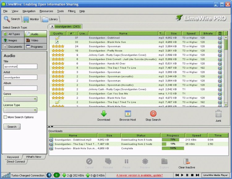 Limewire Download Finally Finished
