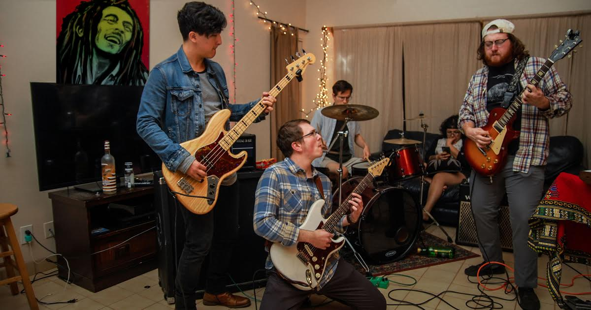College Rock Band Locked Into Groove, Student Debt
