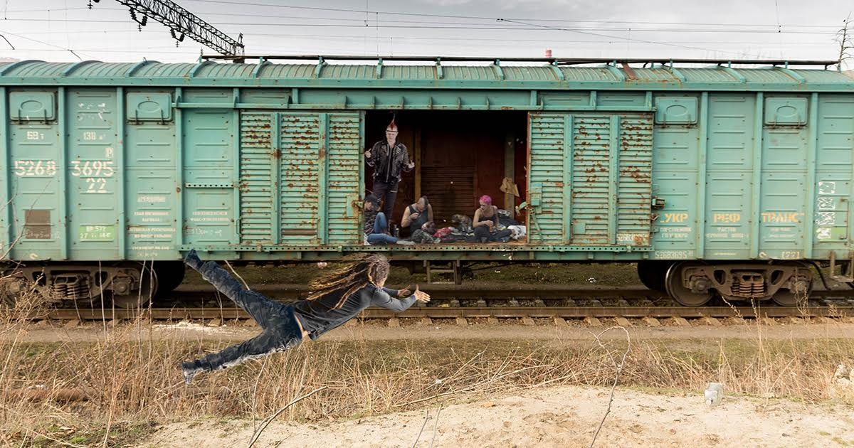Crust Punk Dragged Off Overbooked Freight Train