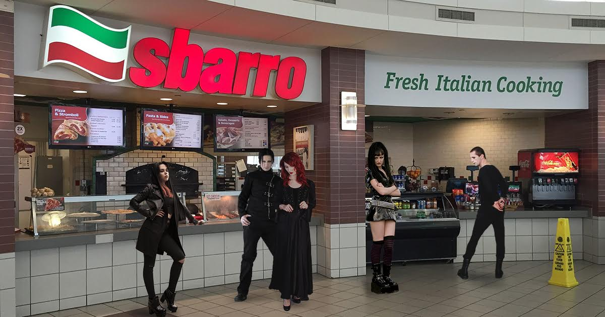 Goths Sack Sbarro, Extending Hot Topic Empire to Far Reaches of Food Court