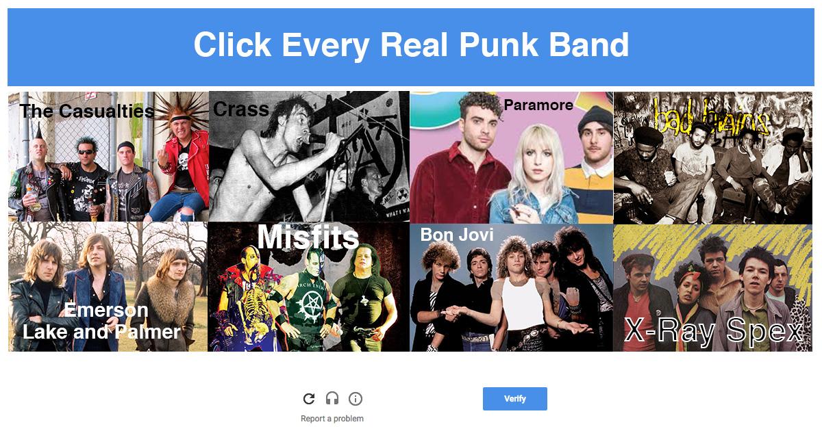 punk, captcha, security, poser