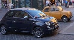 vintage and modern fiat - photo courtesy of The Harrises of Chicago