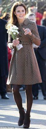 Wearing an Orla Kiely coatdress