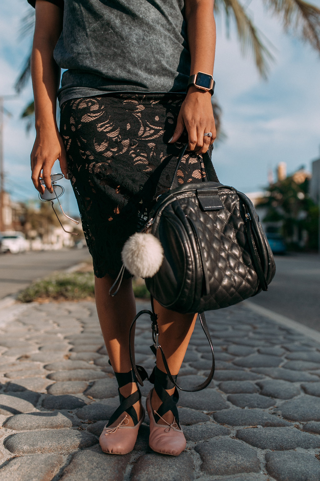 Zara Ballet Slippers + Chloe sunnies // https://thehautemommie.com/3-outfits-in-1/