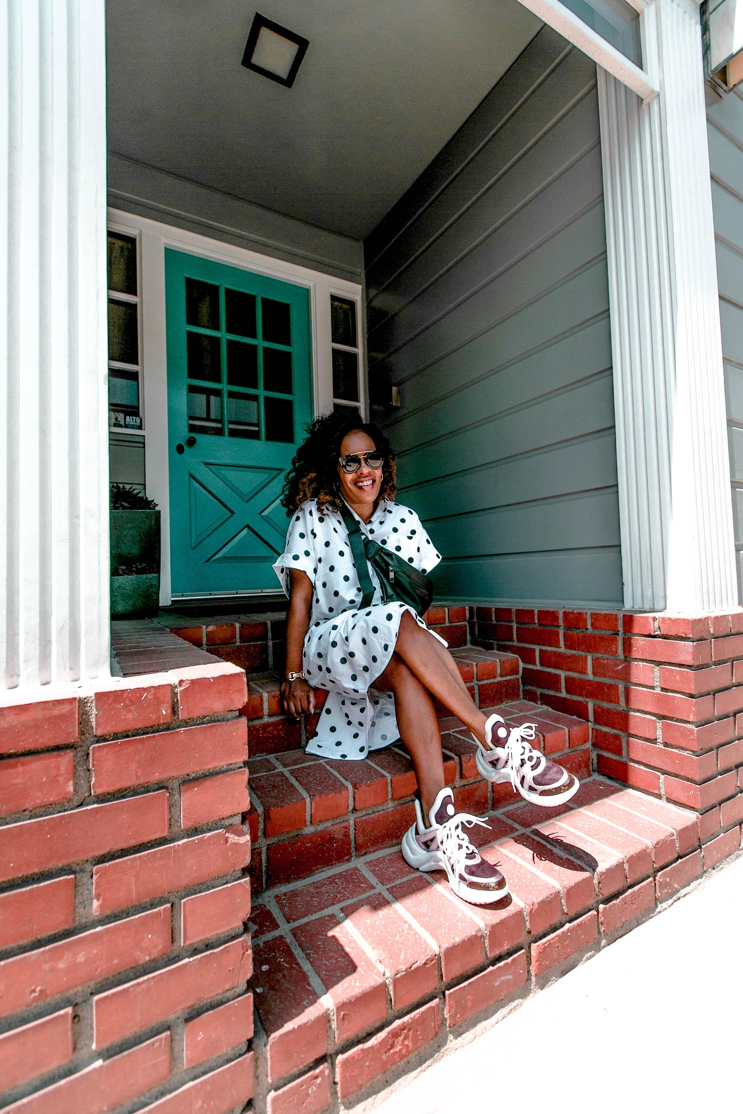 fashion blogger, style, polka dot, trend, Hautemommie