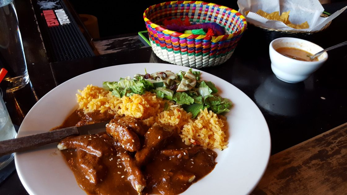 chicken mole dinner