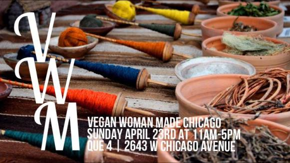 vegan woman made Flyer  weekend in Chicago April 20th-23rd