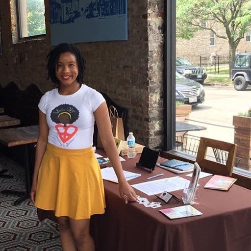 Founder of Sista Afya Camesha Jone. Sista Afya is a mental wellness organization for black women in Chicago.