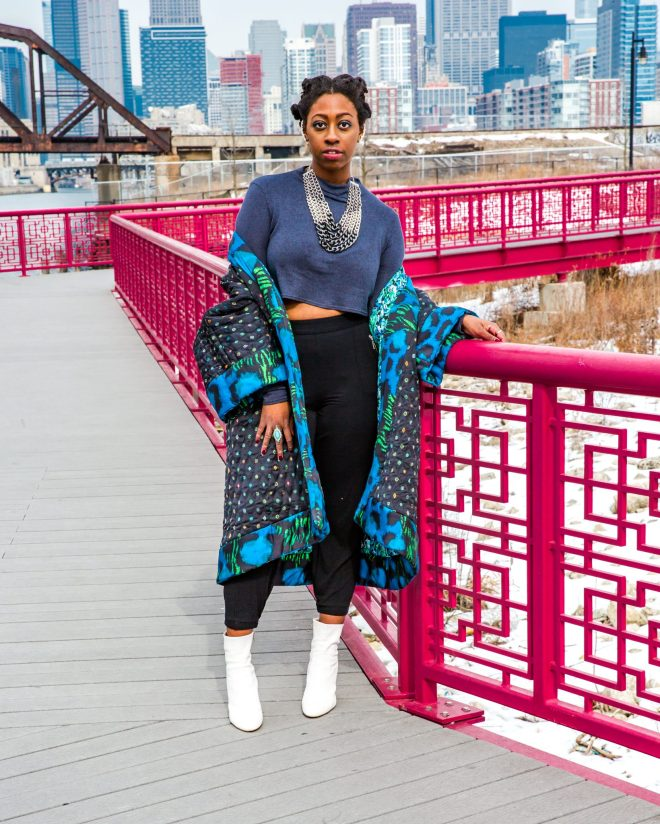 Big quilted coat by Kenzo x HM as seen on The Haute Seeker in Chicago_3