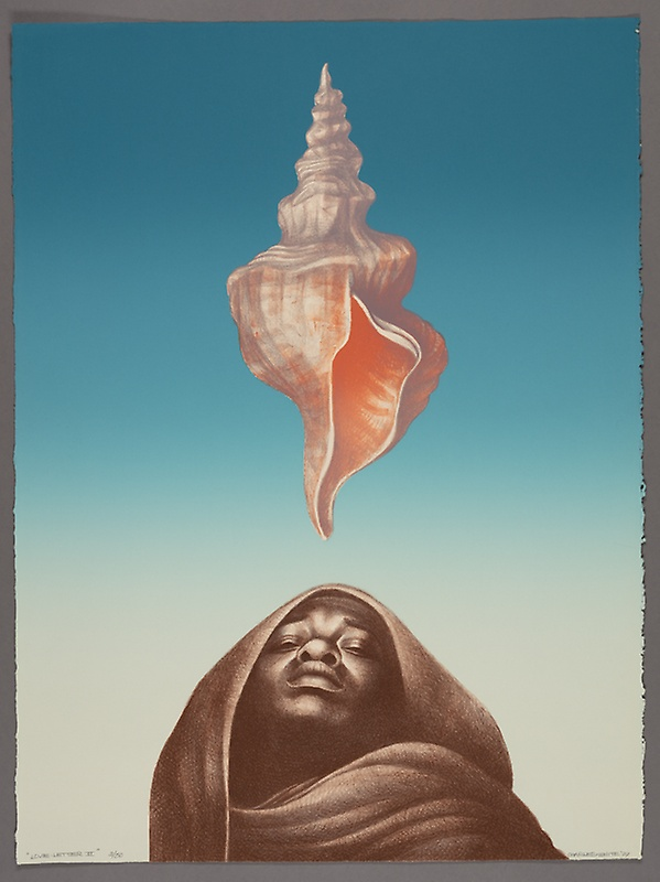 Charles-White-Love Letter III-1977-Lithograph