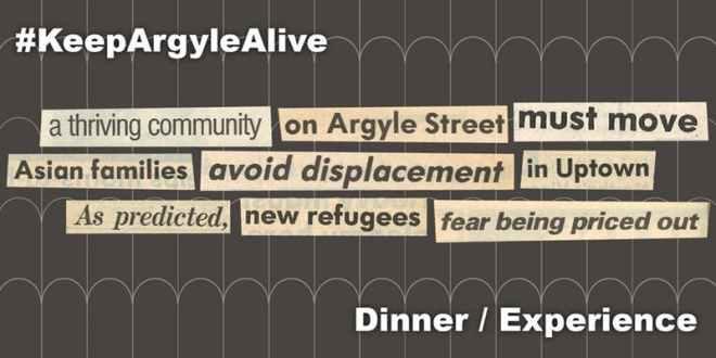 KeepArgyleAlive Pop-Up Dinner