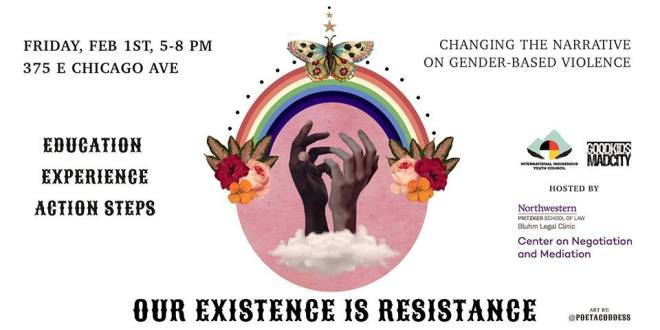flyer-Our Existence is Resistance: Dialogue on Gender-Based Violence-chicago-events-feburary-2019-thehauteseeker