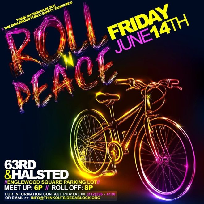 Roll N Peace flyer as featured in The Haute Seekers guide to Father's Day events in Chicago