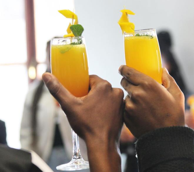 Mimosas at Port & Park in Chicago as featured in The Haute Seeker Bottomless Brunch Guide