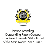 Brand of the Year Nation Branding – Outstanding Resort Concept (The BrandLaureate SMEs BestBrand Award 2017-2018)