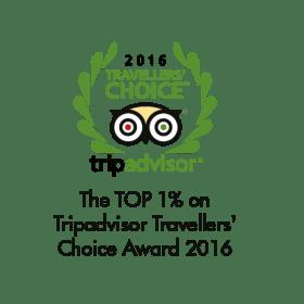 The Top 1% (TripAdvisor Travellers' Choice Award 2016)