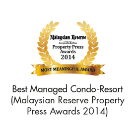 Best Managed Condo-Resort (The Malaysian Reserve Property Press Awards 2014)