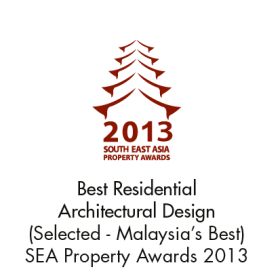 Best Residential Architectural Design (Selected - Malaysia's Best) SEA Property Awards 2013