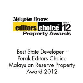 Best State Developer - Perak (Editor's Choice Malaysian Reserve Property Awards 2012)