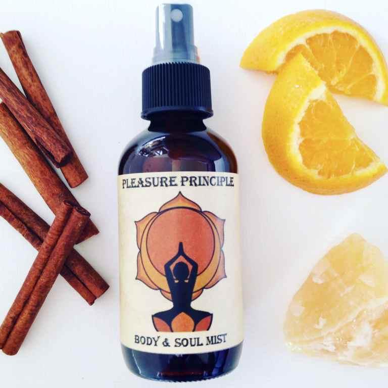 bottle of sacral chakra mist pleasure principle