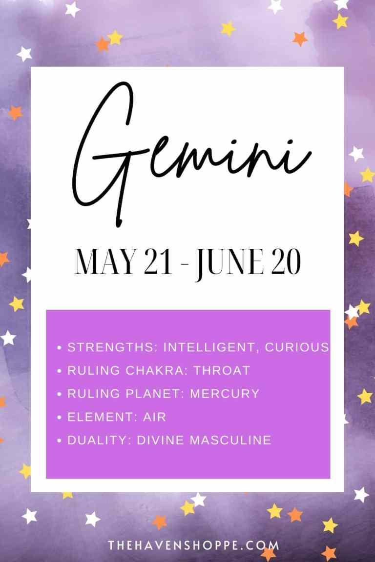 Gemini zodiac sign meaning pin