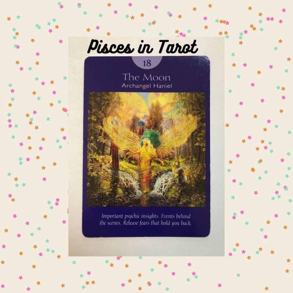 Moon tarot card from Angel Tarot