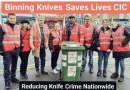 'Trying to make London safer'-Binning Knives Saves Lives.