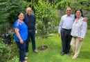 Local Councillors visit Hornchurch home two years after tree planting.