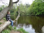 Meg along River Swale