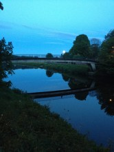 A moonrise over the River Wear. On the bridge you may see another who stopped to take it all in.
