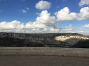 Overlooking the city of Jerusalem.