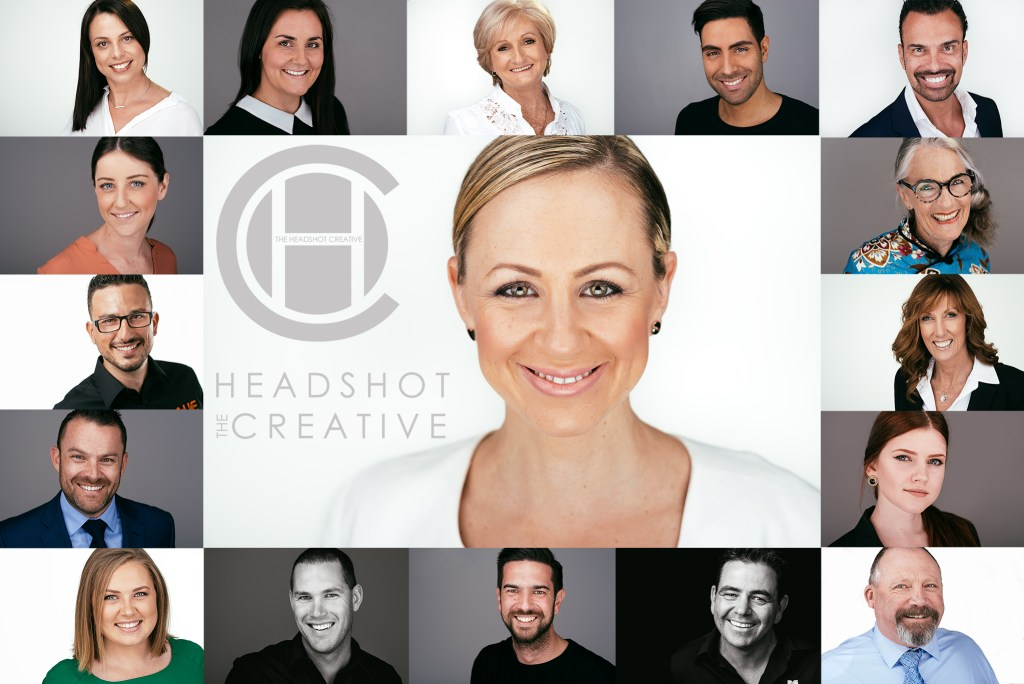 Headshot photography Adelaide, studio professional portraits collage best quality the headshot creative
