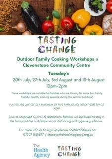 Tasting Change family cooking workshop details
