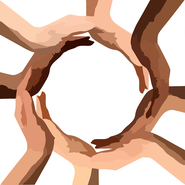 Hands place in a circle to show wholeness in health