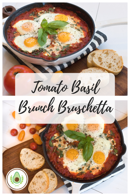 Tomato Basil Brunch Bruschetta