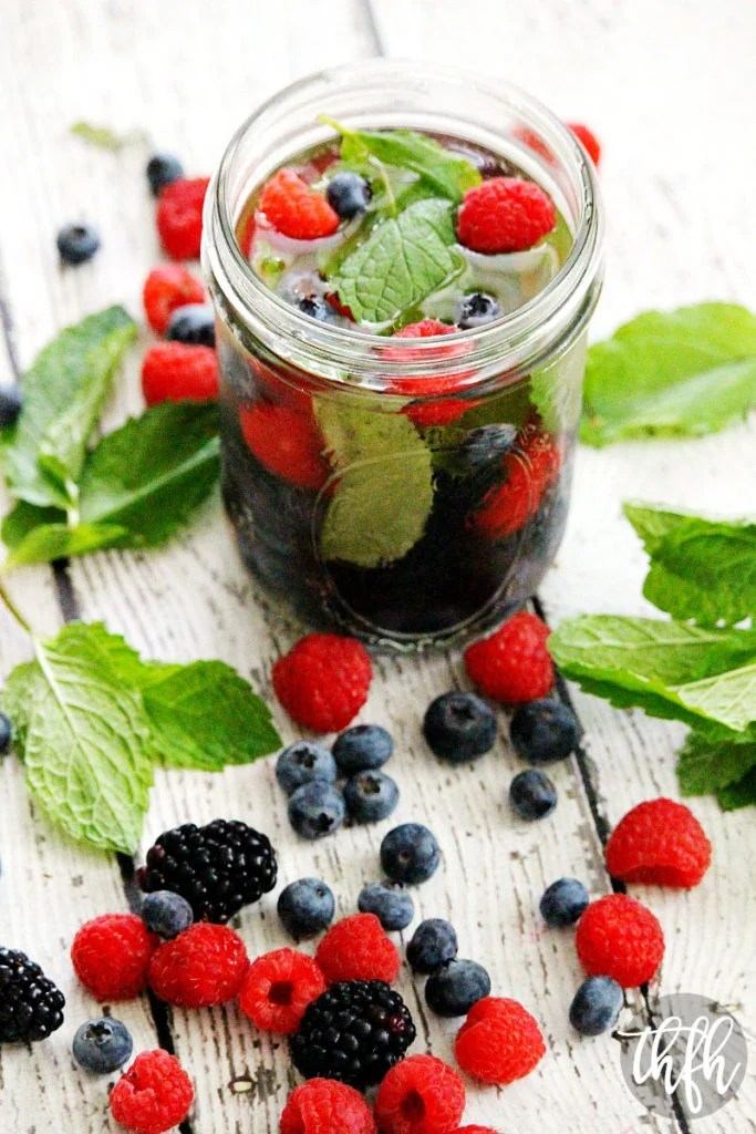Fresh Berry And Mint Spa Water The Healthy Family And Home